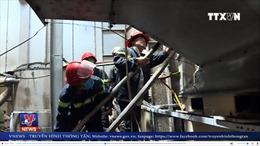 Hàng chục tấn gạo bị thiêu rụi trong vụ cháy nhà máy xay xát