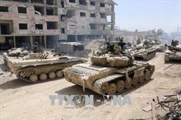 Các lực lượng Syria tiến vào Douma sau vụ không kích