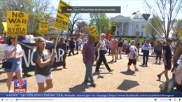 Biểu tình phản đối tấn công Syria tại nhiều thành phố ở Mỹ