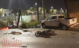 Đã có 2 người chết, 5 người bị thương trong vụ ô tô tông hàng loạt xe máy