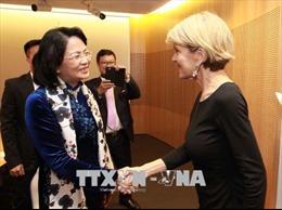 Phó Chủ tịch nước Đặng Thị Ngọc Thịnh tiếp Bộ trưởng Ngoại giao Australia