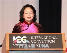 Toàn văn phát biểu của Phó Chủ tịch nước Đặng Thị Ngọc Thịnh tại Lễ khai mạc Hội nghị Thượng đỉnh phụ nữ toàn cầu