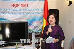 Nguyên Phó Chủ tịch nước Trương Mỹ Hoa gặp gỡ kiều bào tại Australia