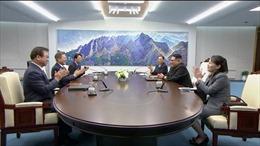 Hình ảnh 'bóng hồng' duy nhất tại bàn Hội nghị thượng đỉnh liên Triều