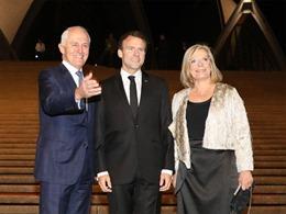 Dân mạng xôn xao với lời khen Tổng thống Pháp dành cho vợ Thủ tướng Australia