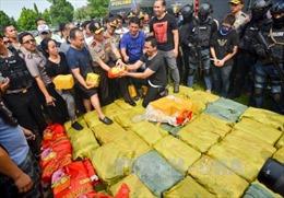 Indonesia tiêu hủy hơn 2 tấn ma túy đá