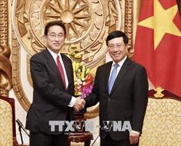 Phó Thủ tướng Phạm Bình Minh tiếp trưởng ban Nghiên cứu chính sách đảng LDP Nhật Bản