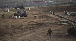 Video nổ lớn rung chuyển Cao nguyên Golan giữa Israel và Syria