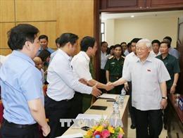 Tổng Bí thư Nguyễn Phú Trọng tiếp xúc cử tri Hà Nội