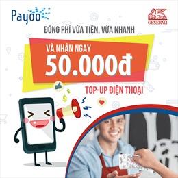 Generali Việt Nam mang đến nhiều ưu đãi khi đóng phí qua Payoo