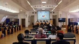 Bí thư Thành ủy Nguyễn Thiện Nhân dự hội thảo về Chủ tịch Hồ Chí Minh tại Nga