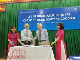 Tiếp nhận hơn 1.500 tài liệu, hiện vật của GS.TS.NGND Nguyễn Ngọc Giao