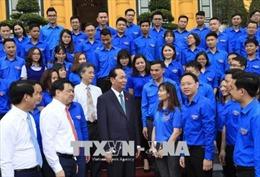 Chủ tịch nước Trần Đại Quang gặp mặt đại biểu thanh niên Khối các cơ quan Trung ương