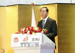 Chủ tịch nước Trần Đại Quang tiếp Chủ tịch Ủy ban Điều hành Hạ viện Nhật Bản