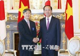 Chủ tịch nước Trần Đại Quang tiếp Chủ tịch JICA Shinichi Kitaoka