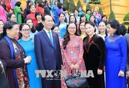 Chủ tịch nước Trần Đại Quang gặp mặt các nữ đại biểu Quốc hội khóa XIV