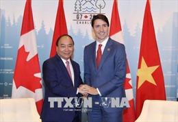 Thủ tướng Canada cảm ơn Thủ tướng Nguyễn Xuân Phúc dự Hội nghị G7 mở rộng