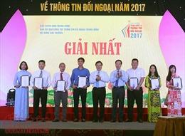 Những hình ảnh Lễ trao Giải thưởng toàn quốc về thông tin đối ngoại năm 2017
