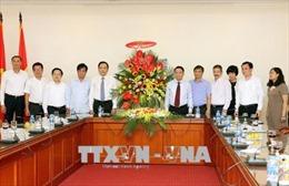 Đồng chí Trần Thanh Mẫn thăm, chúc mừng Hội Nhà báo Việt Nam, Thông tấn xã Việt Nam