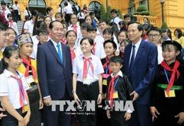Chủ tịch nước Trần Đại Quang gặp mặt đại biểu trẻ em có hoàn cảnh đặc biệt