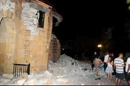 Động đất mạnh 5,5 độ Richter tại miền Nam Hy Lạp