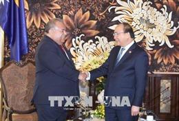 Thủ tướng Nguyễn Xuân Phúc tiếp lãnh đạo một số quốc gia tham dự GEF 6