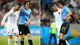 Ronaldo dìu Cavani rời sân là khoảnh khắc đẹp nhất World Cup 2018