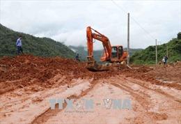 Nỗ lực thông đường sau mưa lũ ở huyện biên giới Mường Tè, Lai Châu