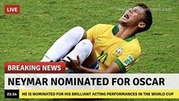 World Cup 2018:  Neymar được đề nghị làm 'thủ khoa sân khấu điện ảnh' sau pha lăn lộn ở trận gặp Mexico