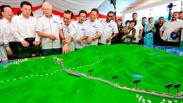 Malaysia dừng dự án do công ty Trung Quốc thi công không kèm theo giải thích