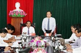 Chủ tịch Ủy ban Trung ương MTTQ Việt Nam Trần Thanh Mẫn làm việc tại Tuyên Quang