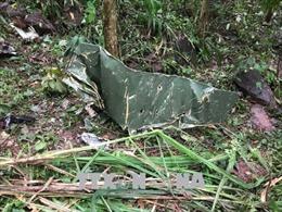Hiện trường vụ rơi máy bay quân sự tại Nghĩa Đàn, Nghệ An
