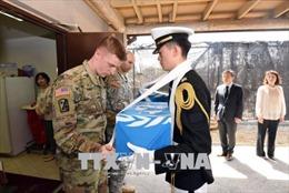 Máy bay Mỹ tới Triều Tiên tiếp nhận hài cốt lính Mỹ