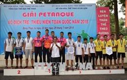Bế mạc Giải Petanque vô địch trẻ, thiếu niên quốc gia năm 2018