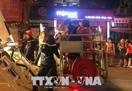 Cứu 7 người mắc kẹt trong vụ cháy tại phố Trần Hưng Đạo, Hà Nội