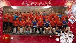 Thầy trò HLV Park Hang-seo gửi lời chúc mừng năm mới 2019 đến người hâm mộ Việt Nam