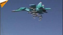 Su-34 Nga dội bom 'xóa sổ' xưởng máy bay không người lái của phiến quân Syria