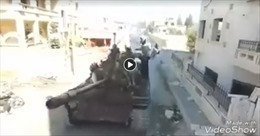 Khủng bố táo tợn diễu binh rầm rộ trên xe tăng ngay sát Aleppo, thách thức Nga-Thổ