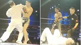 Võ sĩ kick-box tung cú đấm hạ gục cao thủ Thái Cực quyền sau 5 giây