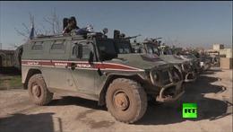 Quân đội Nga rầm rập tuần tra khu vực quân sự Thổ Nhĩ Kỳ ở bắc Syria