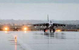 Không quân Nga bất ngờ tấn công lớn ở Syria, dội bom kho vũ khí khủng bố