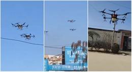 Trung Quốc tung đội quân drone diệt virus Corona