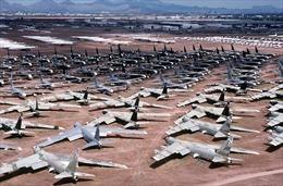 Bãi chứa máy bay Mỹ chen chỗ khi ngành hàng không 'thất nghiệp'