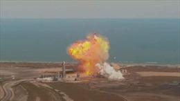 Xem nguyên mẫu tên lửa sao Hoả của SpaceX nổ tung khi hạ cánh