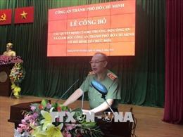 Công an TP Hồ Chí Minh công bố các quyết định của Bộ trưởng Bộ Công an về tổ chức cán bộ