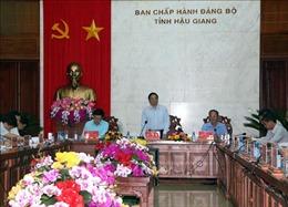 Trưởng Ban Tổ chức Trung ương làm việc tại tỉnh Hậu Giang