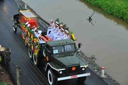 Linh cữu của Chủ tịch nước Trần Đại Quang đã về đến quê hương