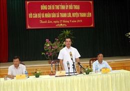 Người dân xã Thanh Lưu kiến nghị nhiều vấn đề 'nóng' với Bí thư Tỉnh ủy Hà Nam