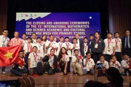Toàn bộ đội tuyển Việt Nam đều có huy chương tại Olympic Toán và Khoa học quốc tế