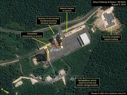 Trang 38 độ Bắc: Triều Tiên không tiến hành dỡ bỏ thêm tại bãi thử tên lửa